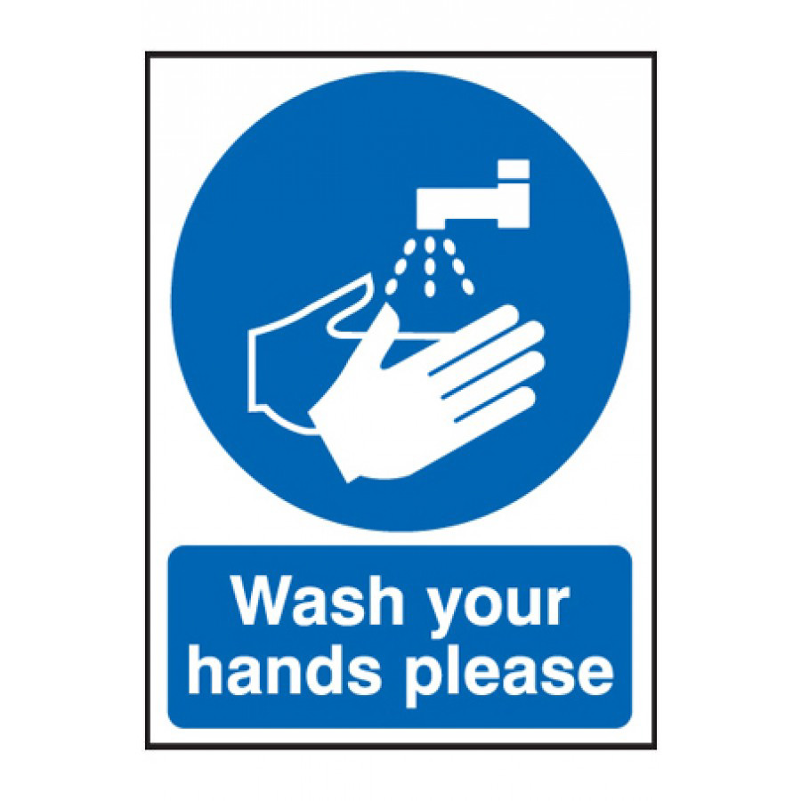 Wash Hands Please Sign