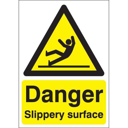 Danger Slippery Surface - PPE Sign