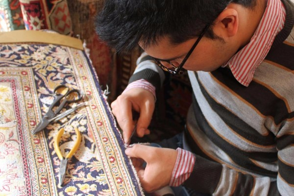 Oriental rug repair and restoration