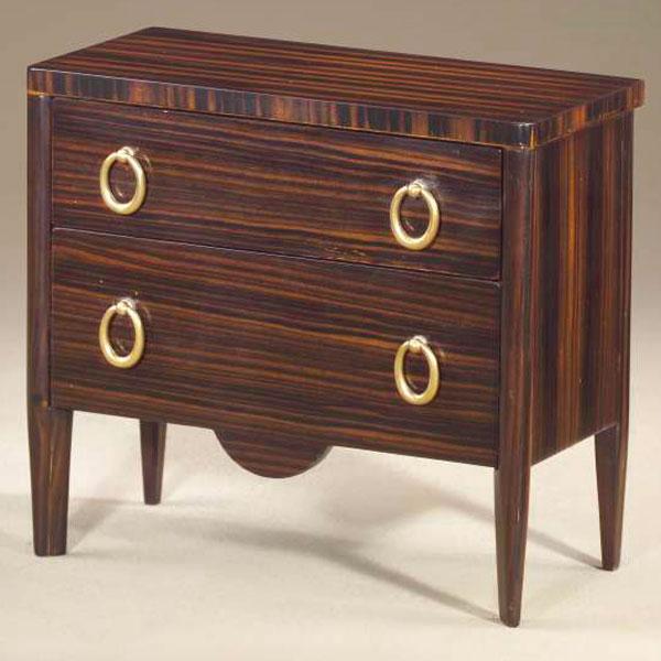 Miniature Macasser ebony chest