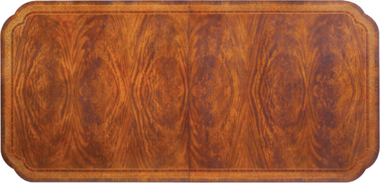 Regency style extending mahogany dining table