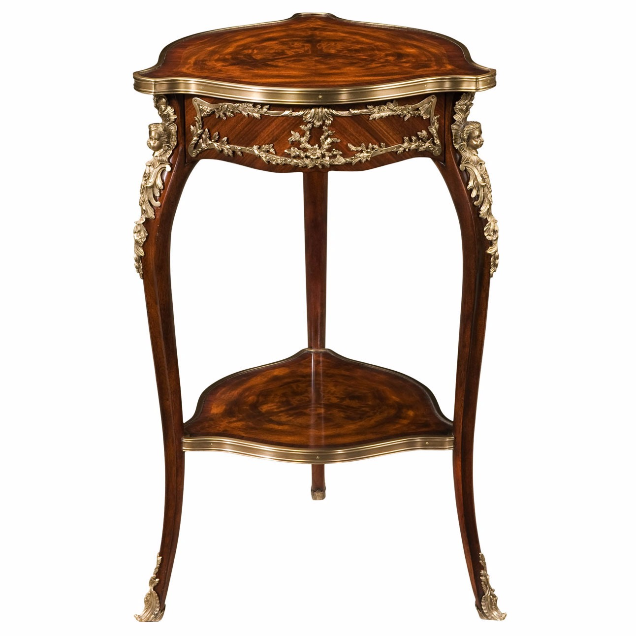 Louis XV style mahogany and ormolu occasional table