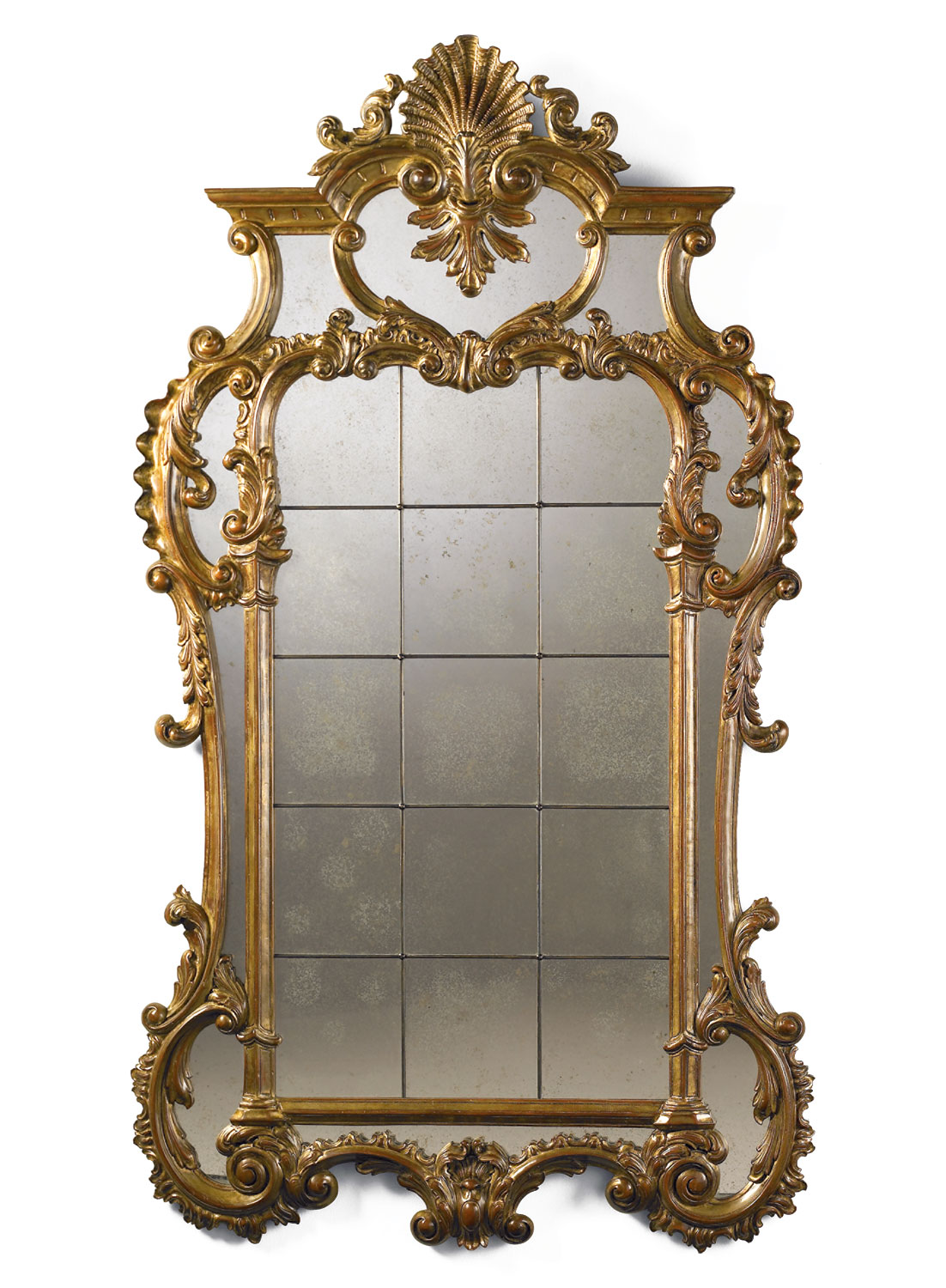 Hand carved giltwood wall mirror