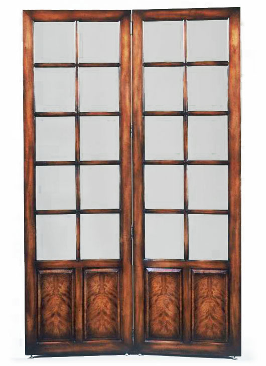 Victorian style glazed screen