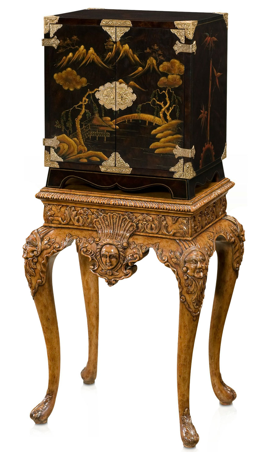 Althorp black lacquered cabinet