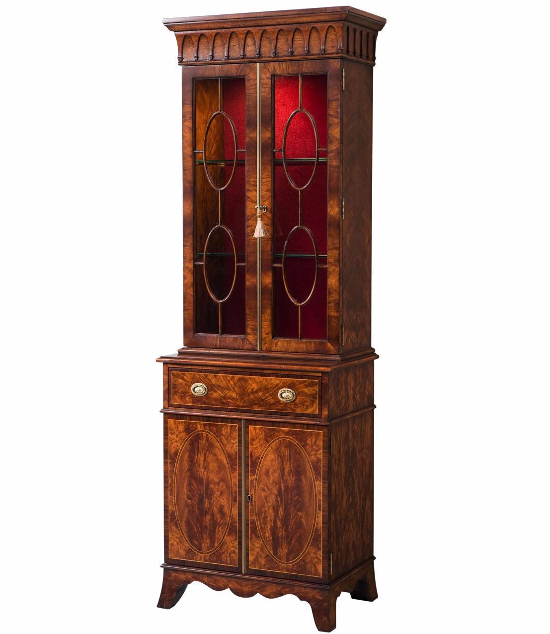 Sheraton style mahogany bookcase
