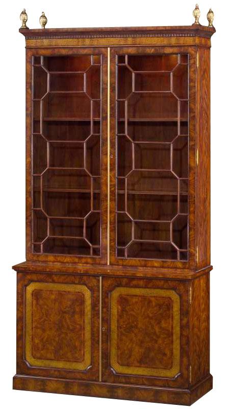 Regency style mahogany library bookcase