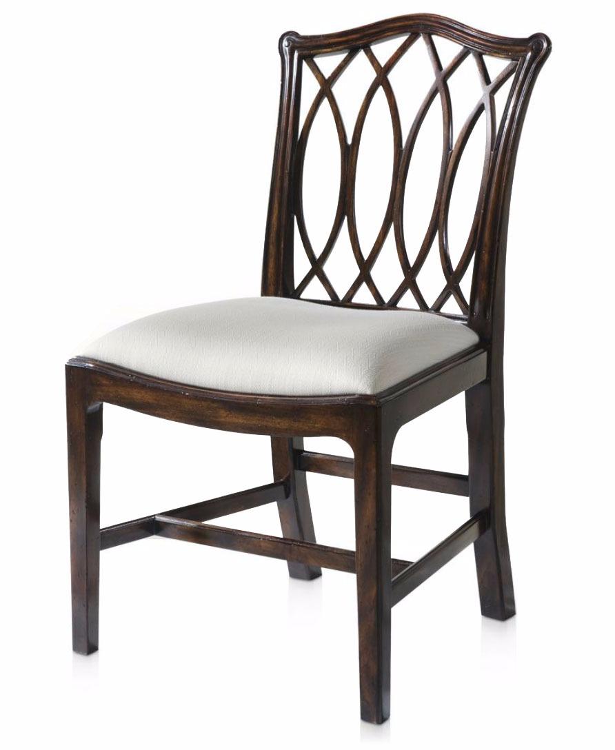 Serpentine pierced dining chair