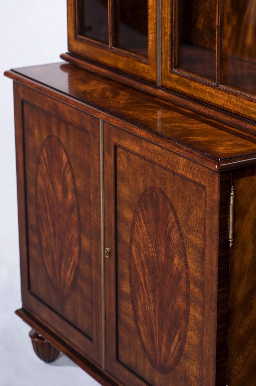A Sheraton mahogany glazed bookcase