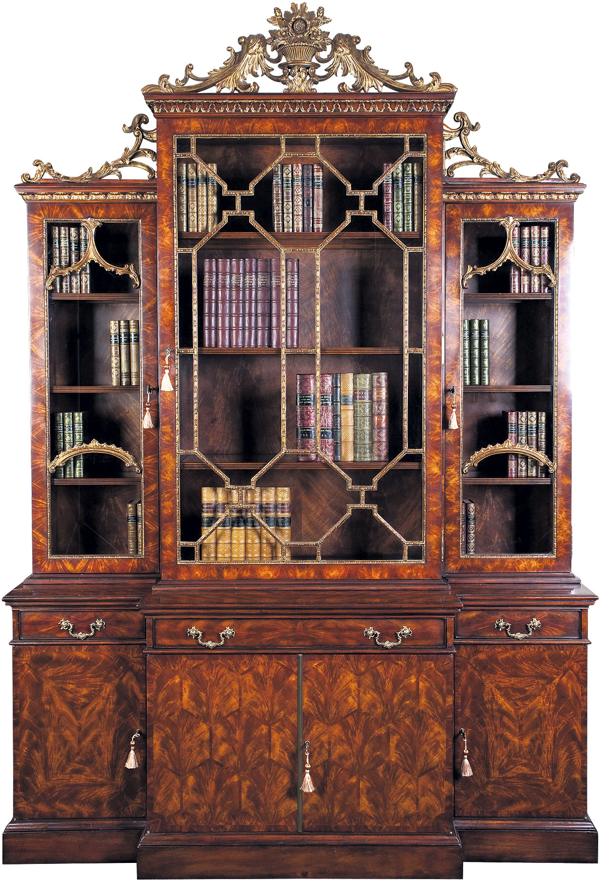 Chippendale Style Bookcase.