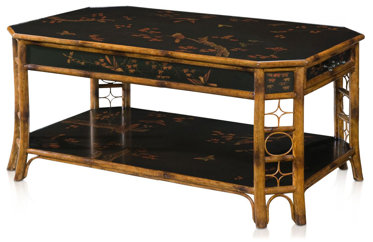 Chinoiserie faux bamboo coffee table