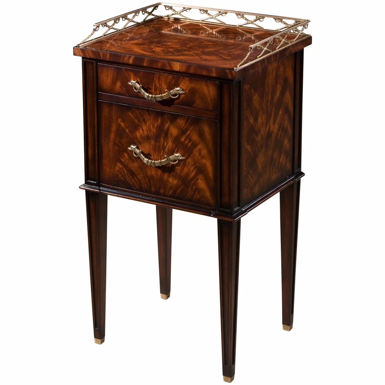 Althorp mahogany bedside or lamp table