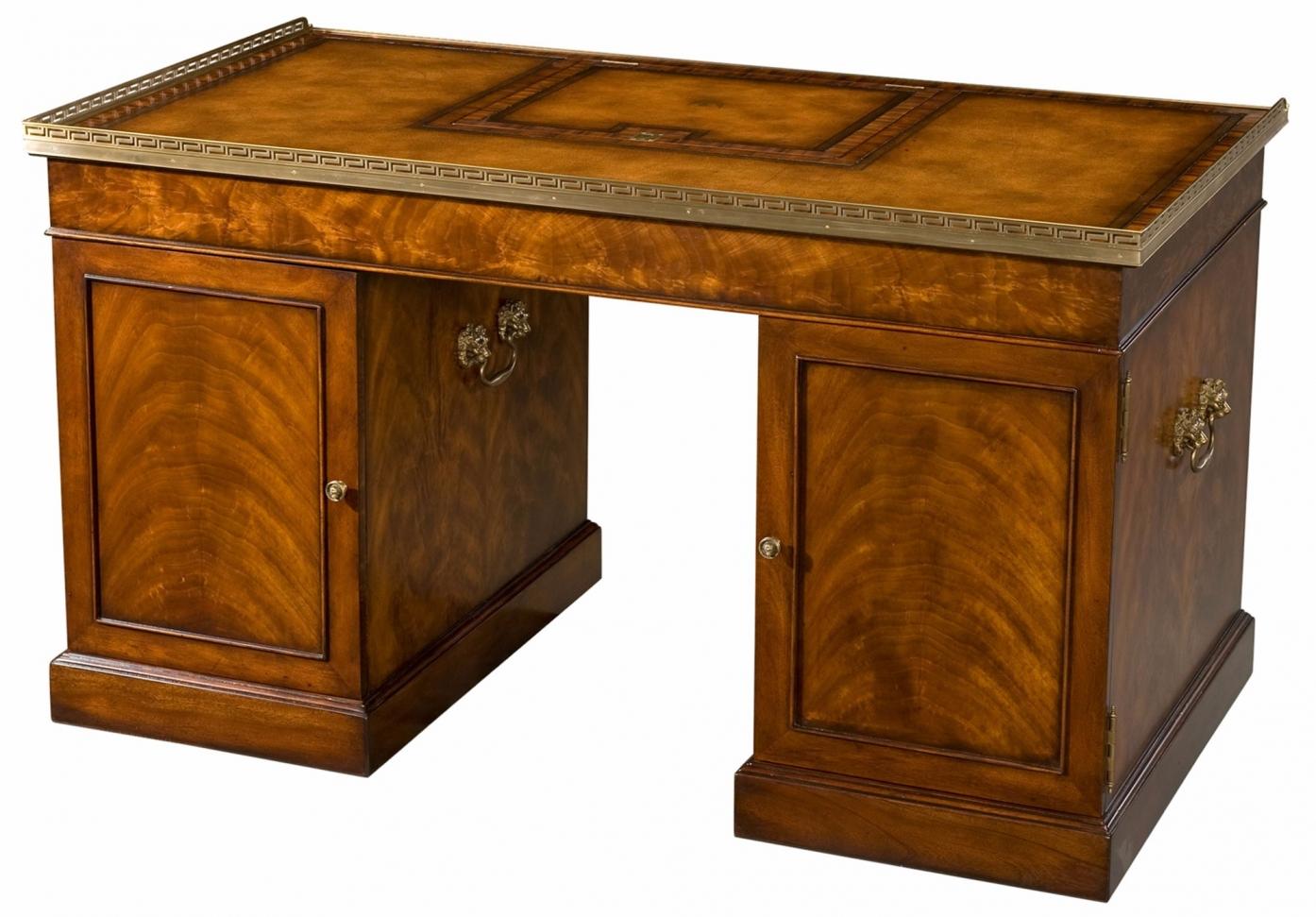 Althorp mahogany pedestal desk