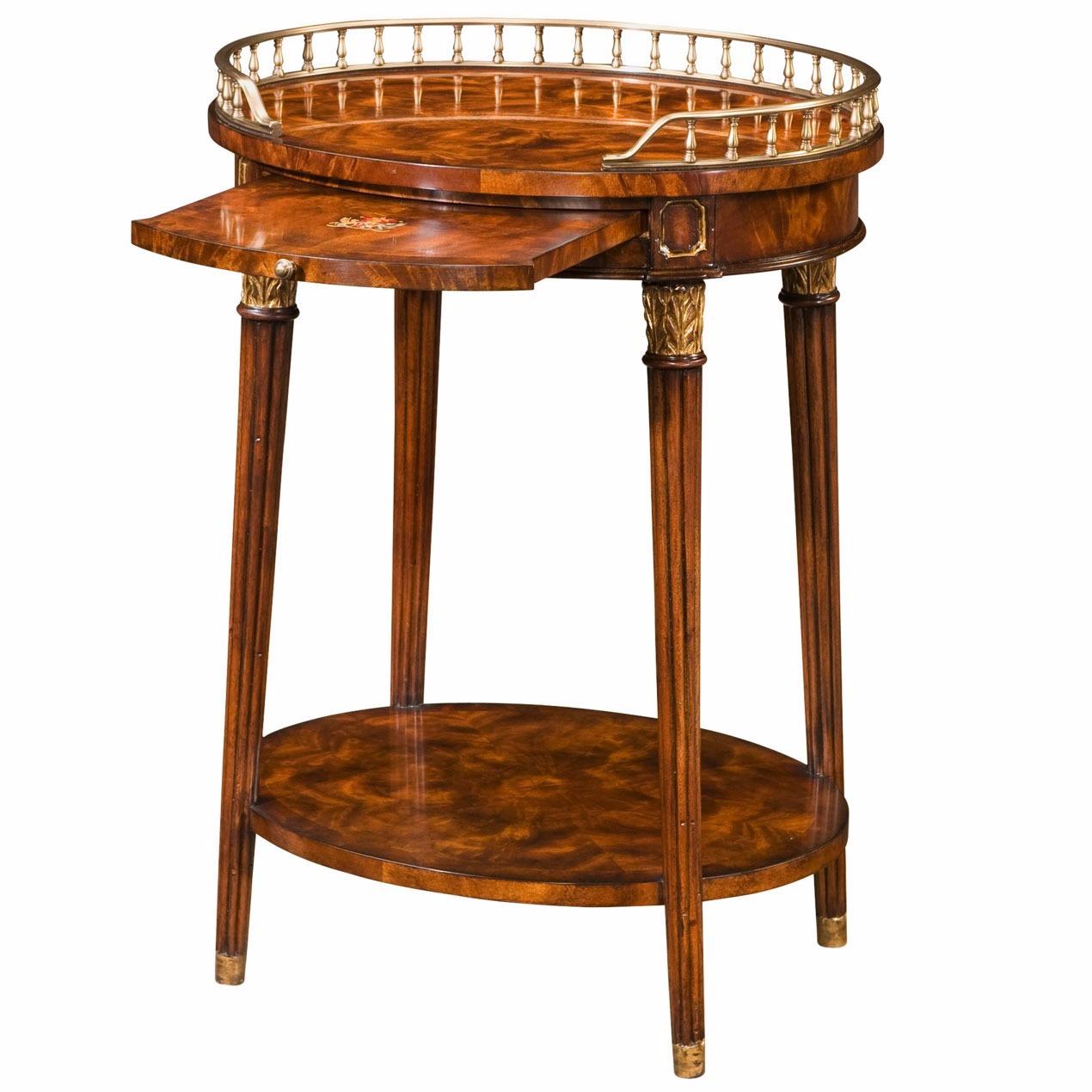 Regency style mahogany oval lamp table