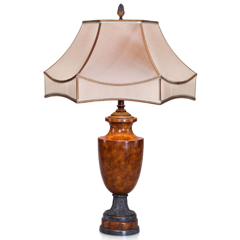Napoleon III style pollard burl table lamp