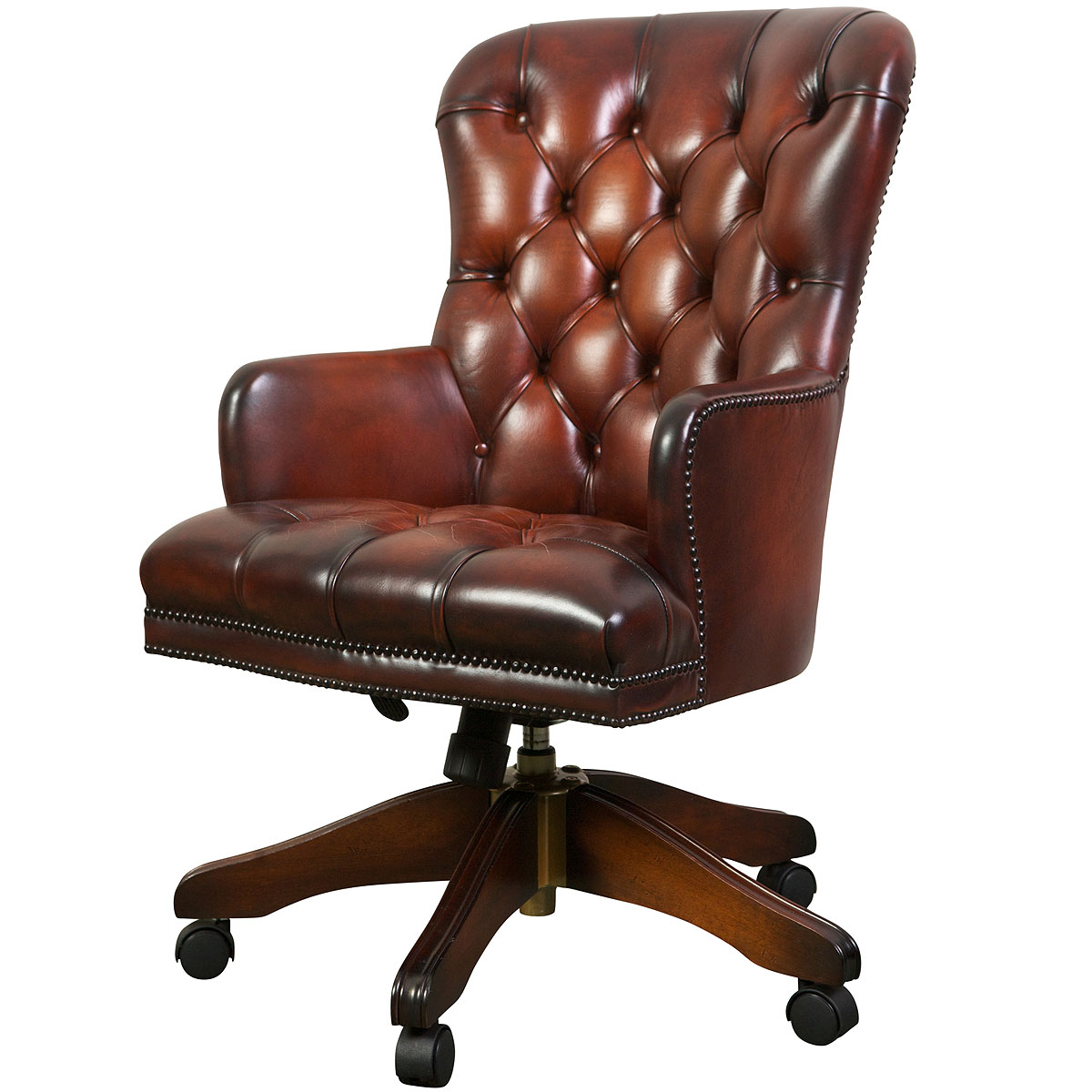 Queen anne swivel chair desk chairs from brights of nettlebed for Queen anne furniture