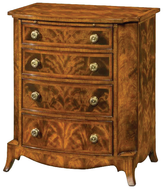 Regency style mahogany chest of drawers