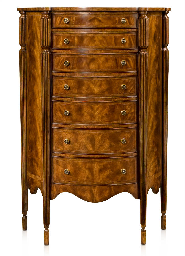 George III style tall chest