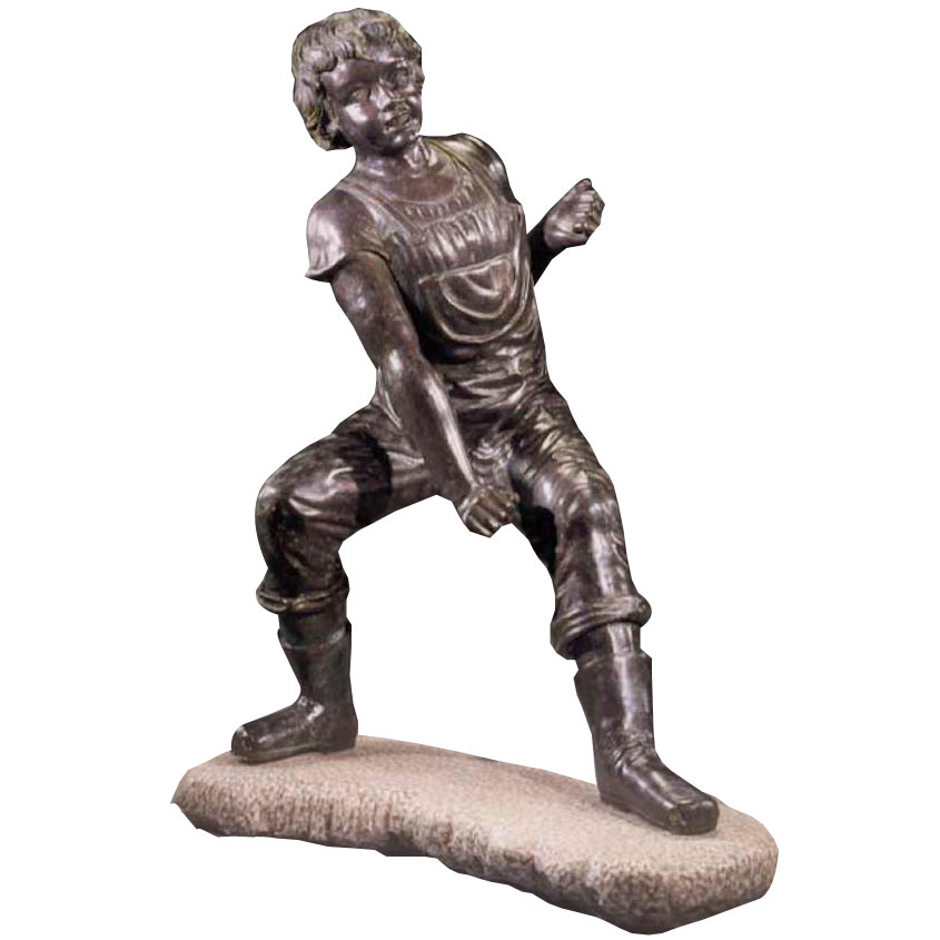 Lifesize bronze boy