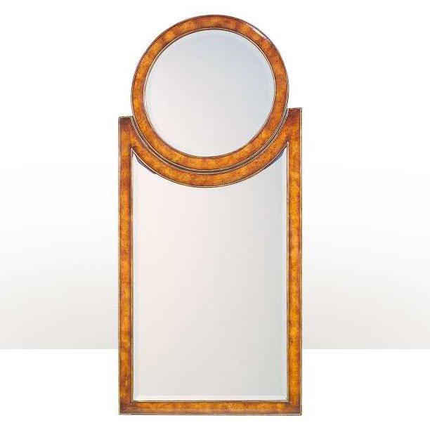 Art Deco style pollard burl wall mirror