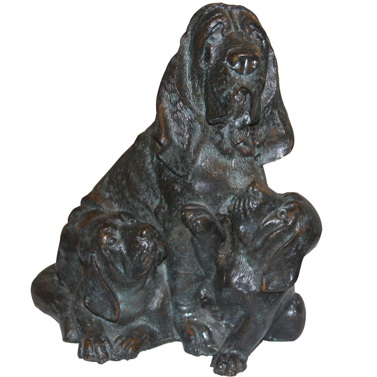 Bronze Dog Family