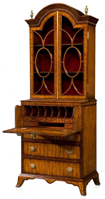A flame mahogany bookcase