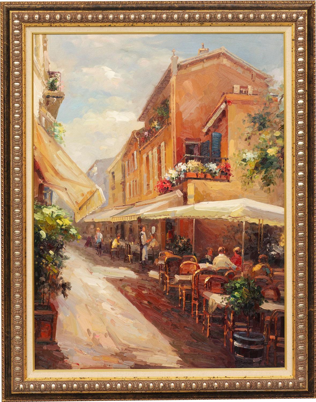 Fiesta, framed oil painting