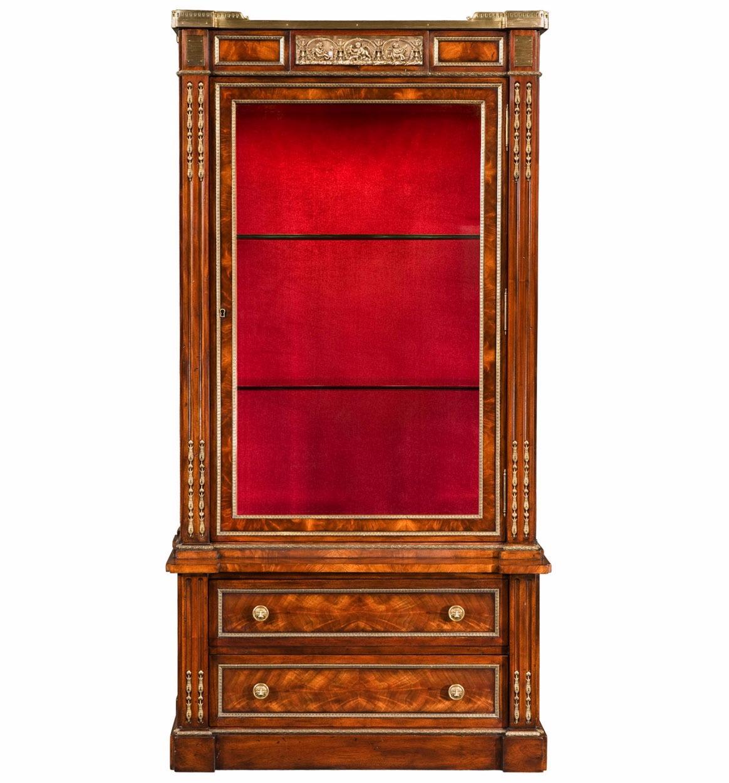 A mahogany cabinet