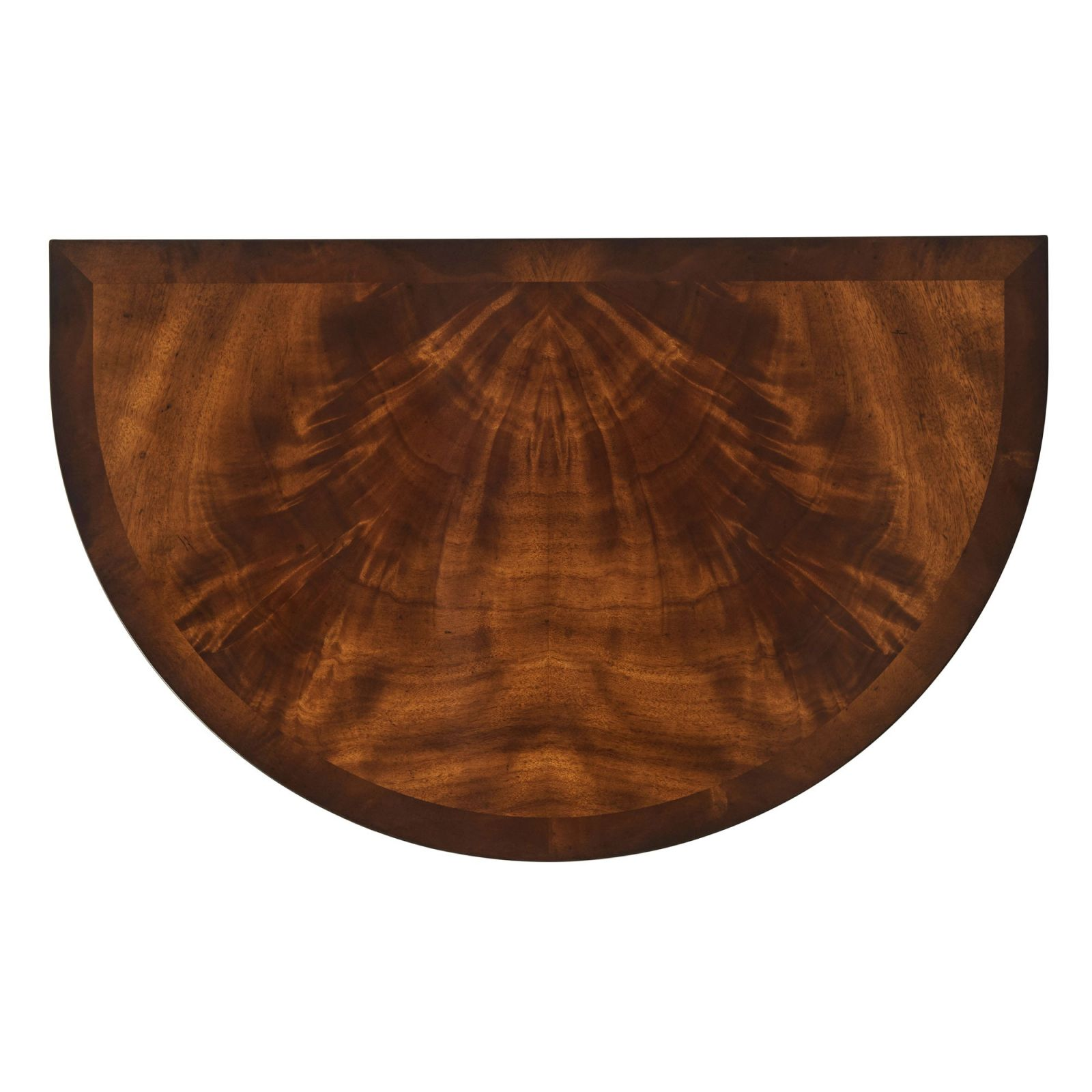 Mahogany demilune console table