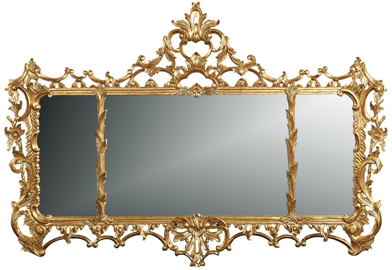 George II style overmantel mirror