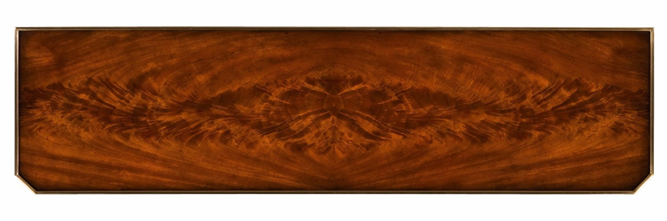 Mahogany and brass mounted console table