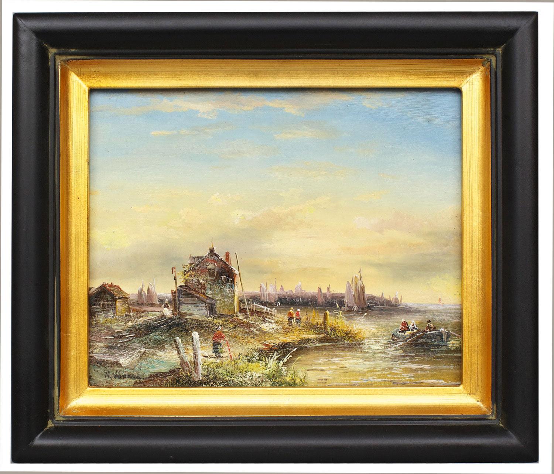 Exe Estuary, framed oil painting
