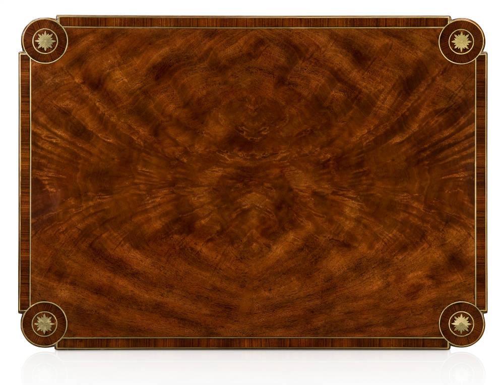 Mahogany crossbanded lamp table