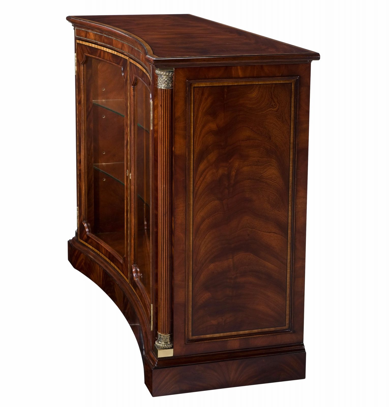 Mahogany and satinwood crossbanded side cabinet