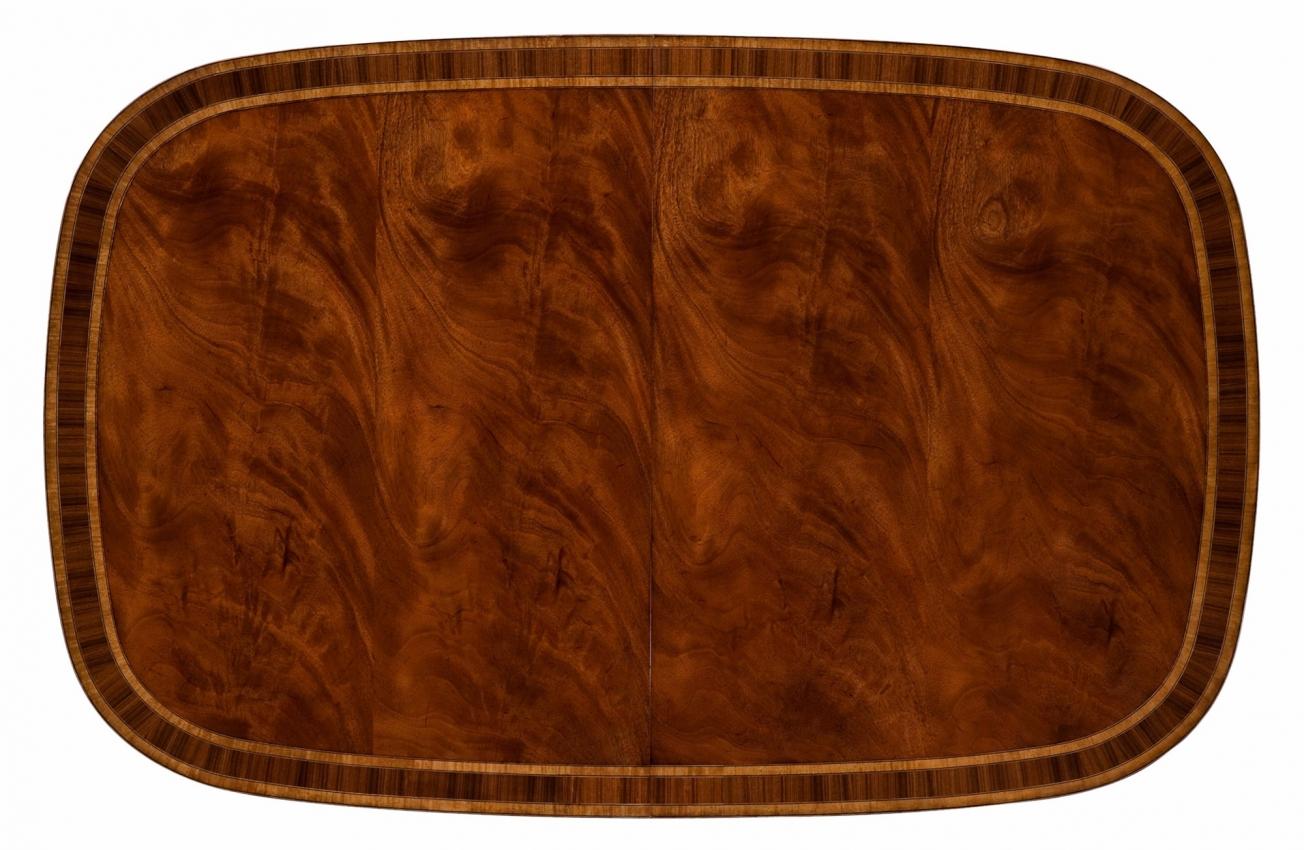 Swirl mahogany dining table