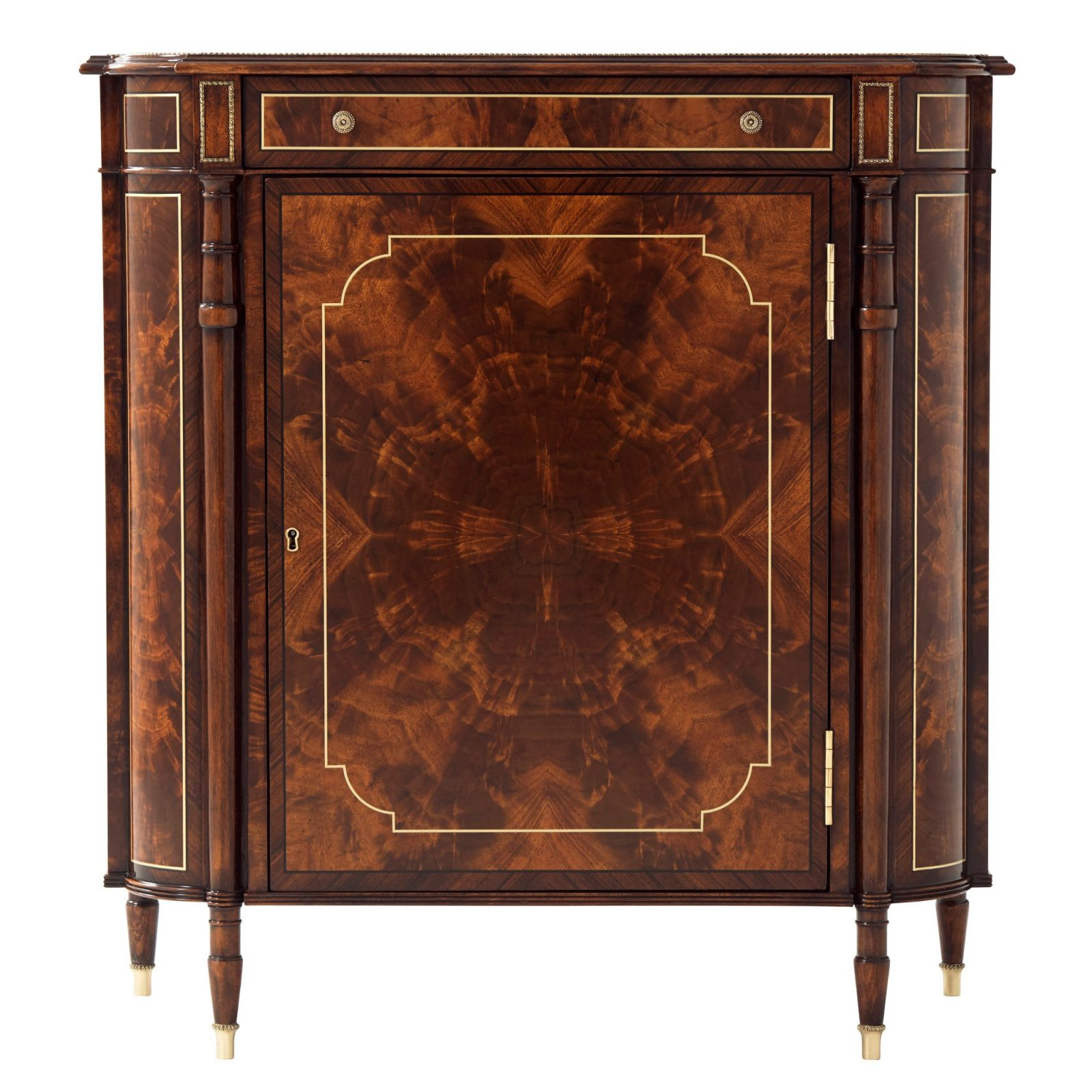 A flame mahogany side cabinet