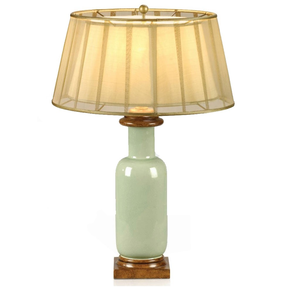A ceramic table lamp