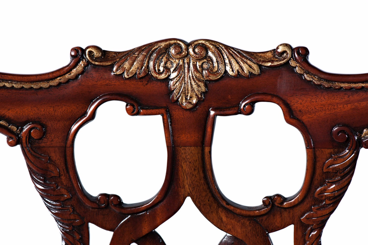 Thomas Chippendale style mahogany dining arm chair