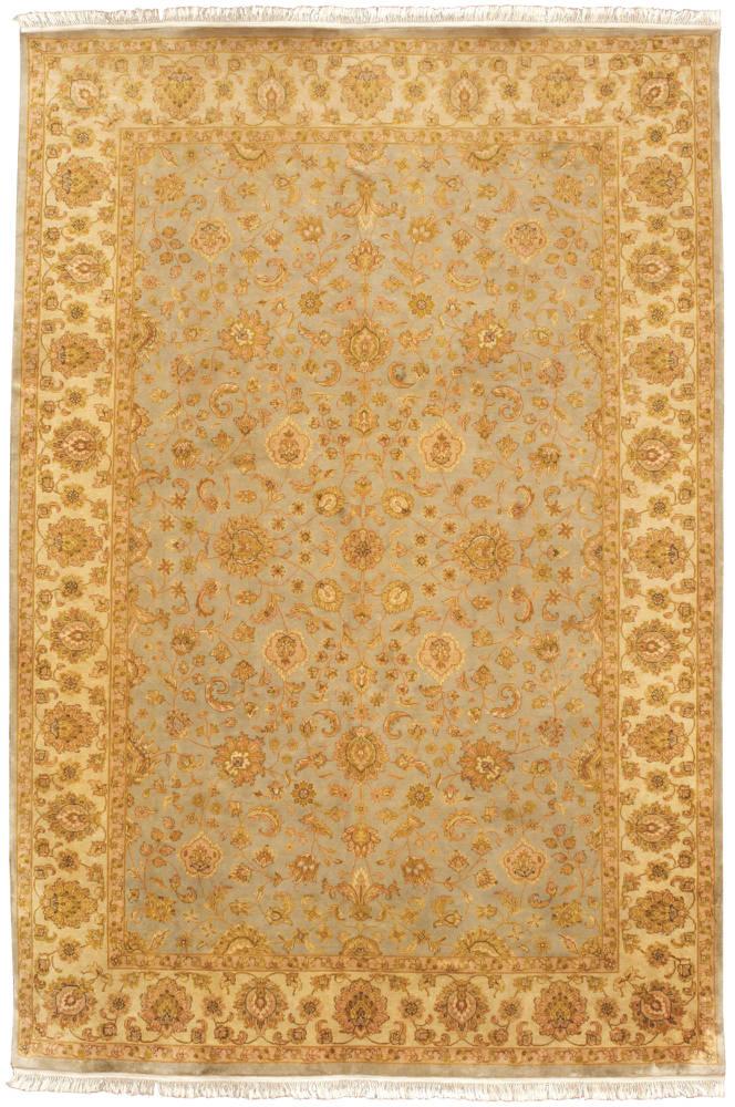 Hand knotted Shah Abbas design silk pile rug