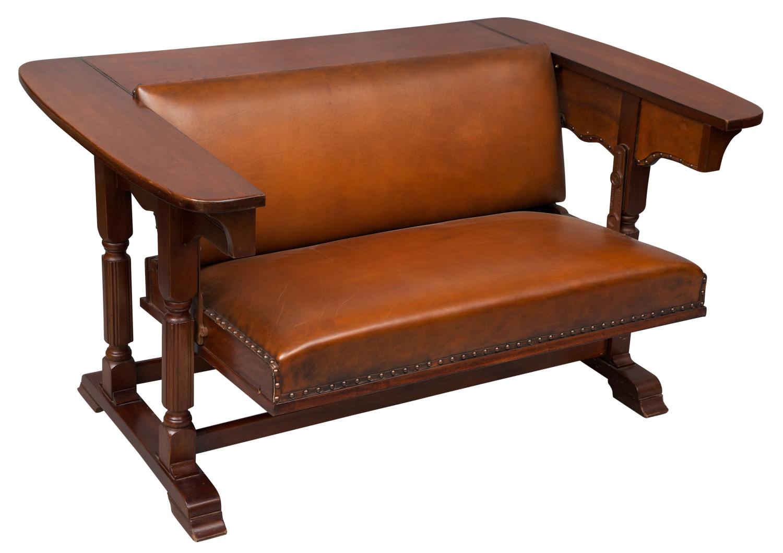 Mahogany metamorphic sofa