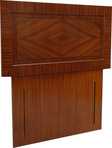 Rosewood headboard
