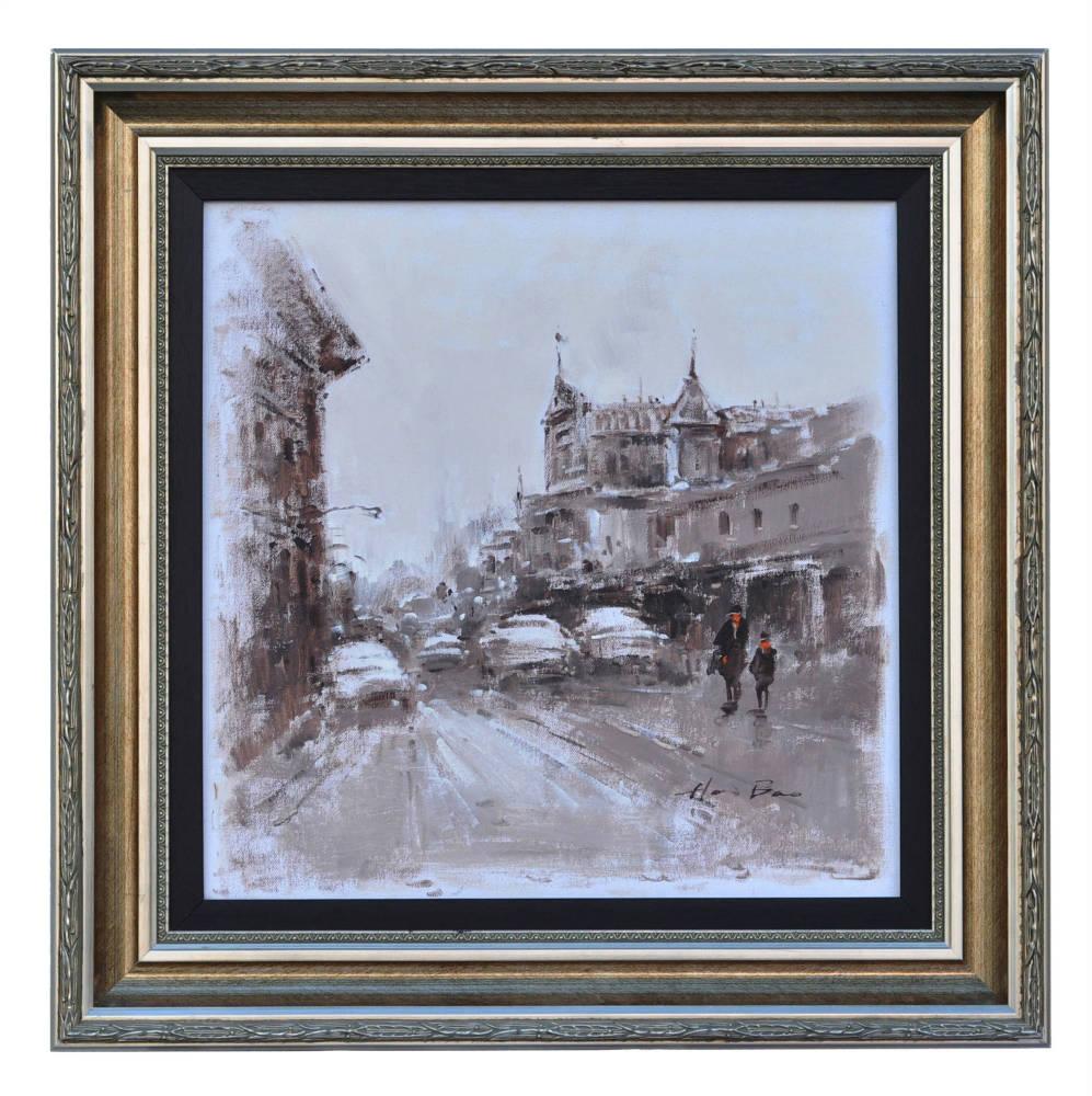 Rue de Maubeuge Paris, framed oil painting