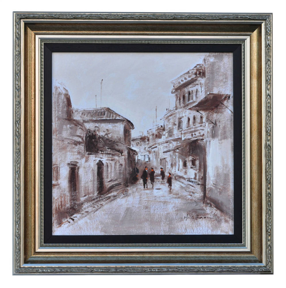 A backstreet in Montmartre Paris, framed oil painting