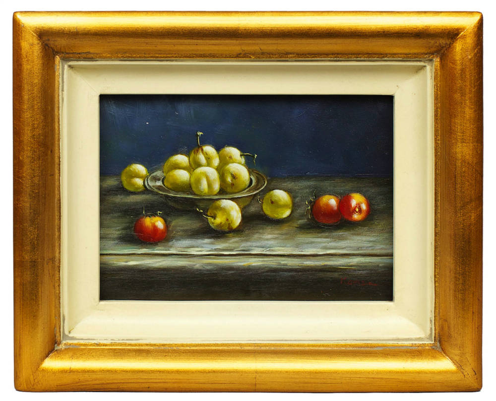 Still life of fruits, framed oil painting