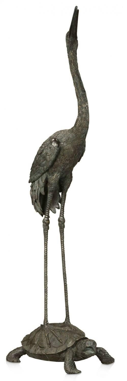 Verdigris Brass Crane