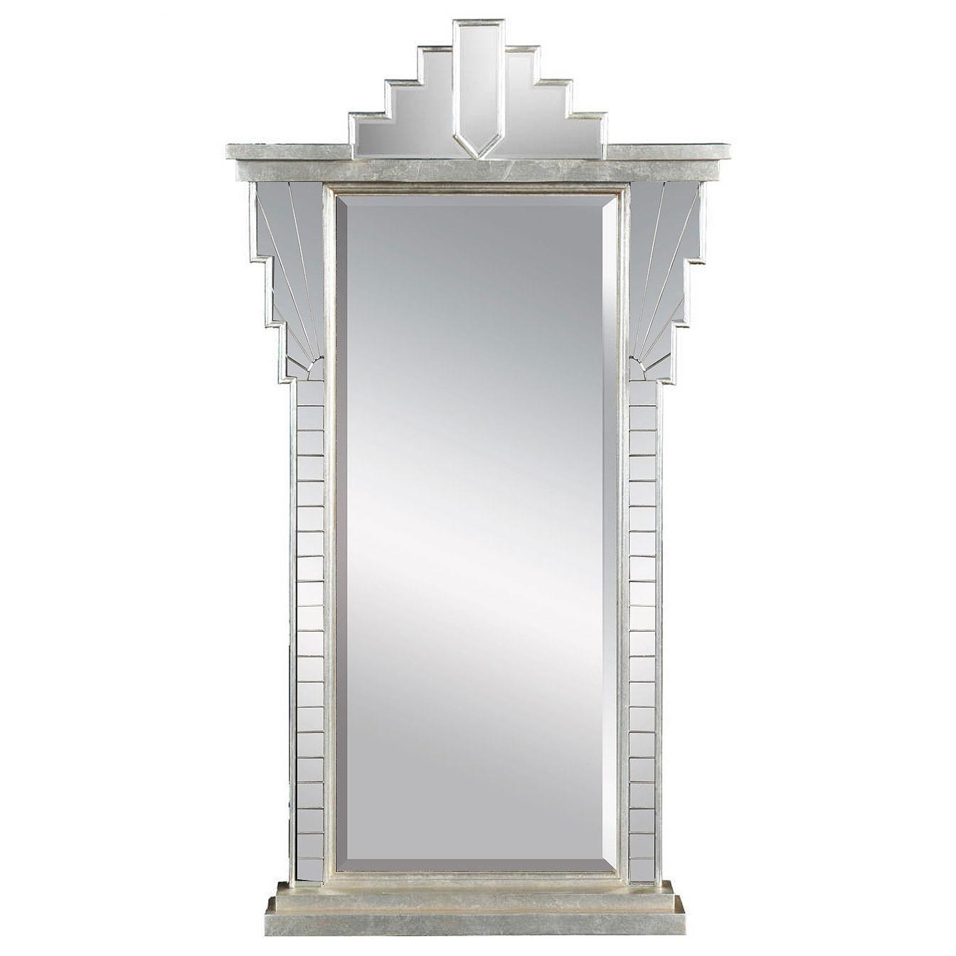 Silver Art Deco style mirror