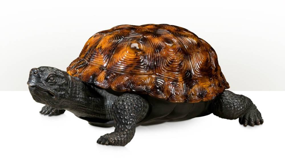 brass figure of a tortoise