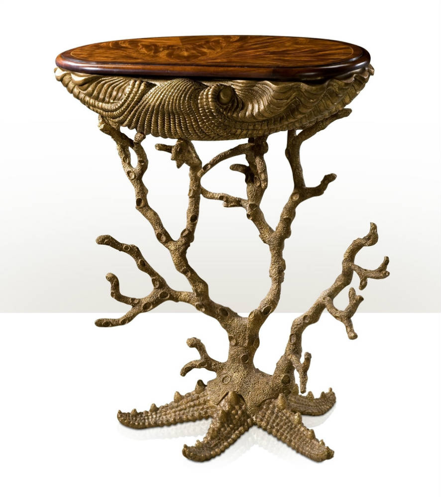 Unusual ocean inspired side table