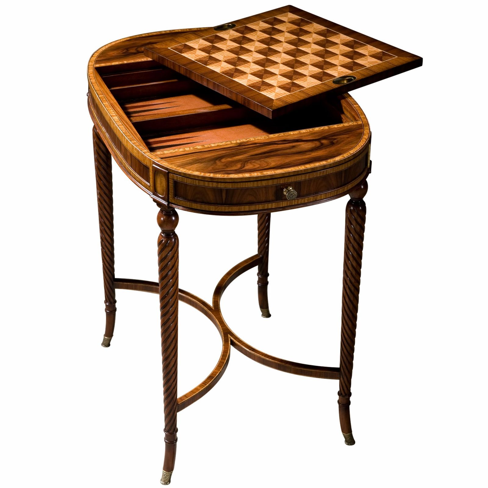A rosewood tray top table