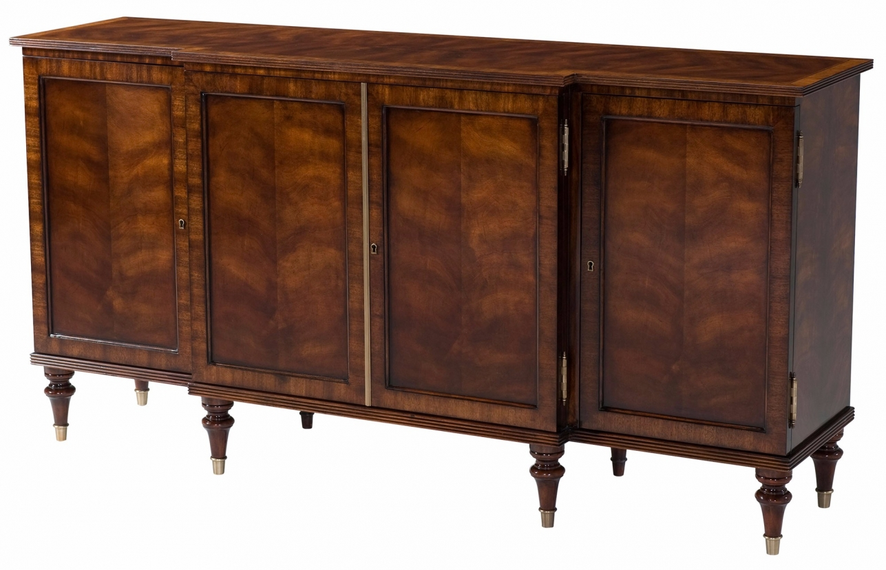 A swirl mahogany veneered side cabinet